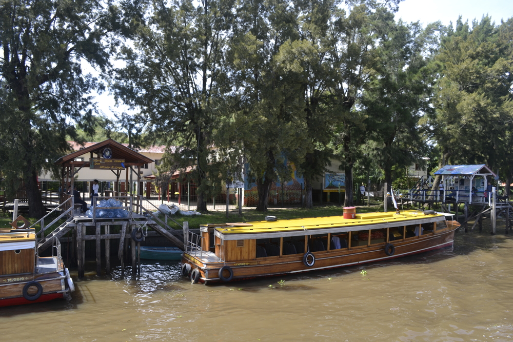 School on the river... that's a boat bus!