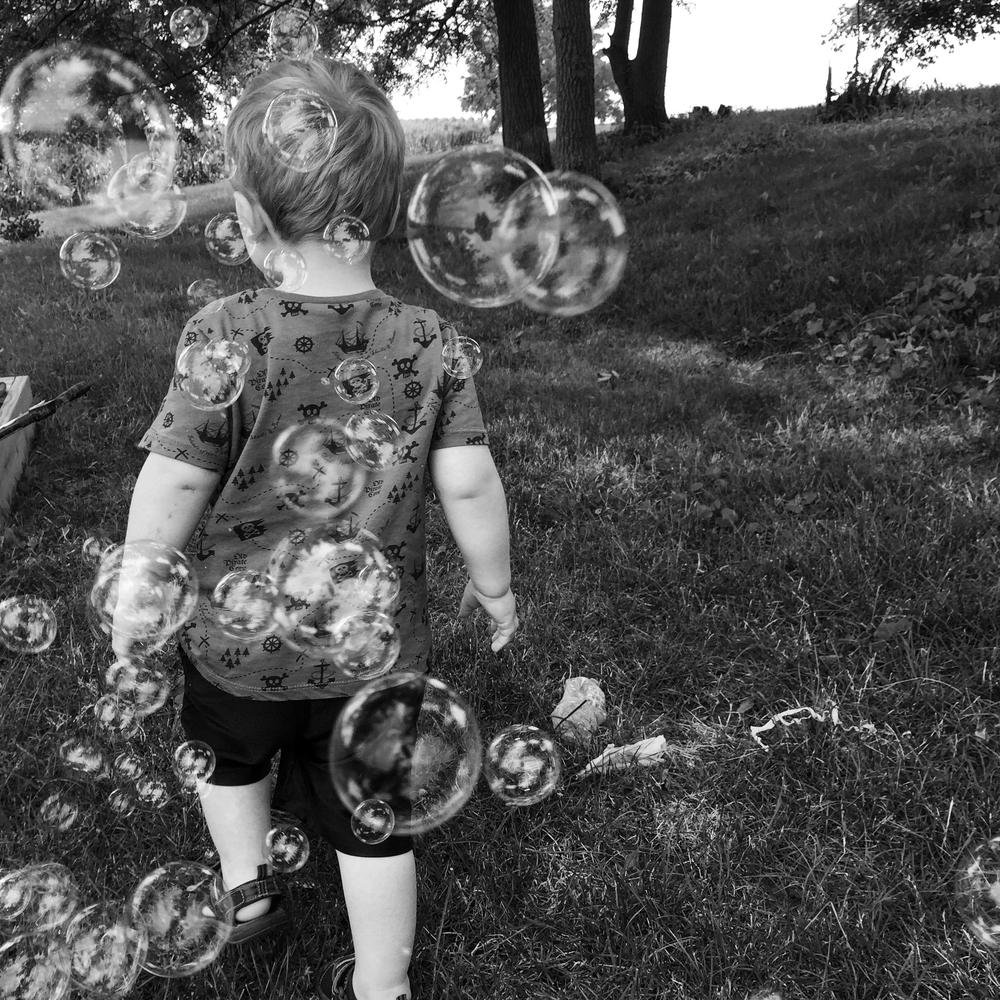 Summer afternoons in Iowa are the best. So are bubble machines.
