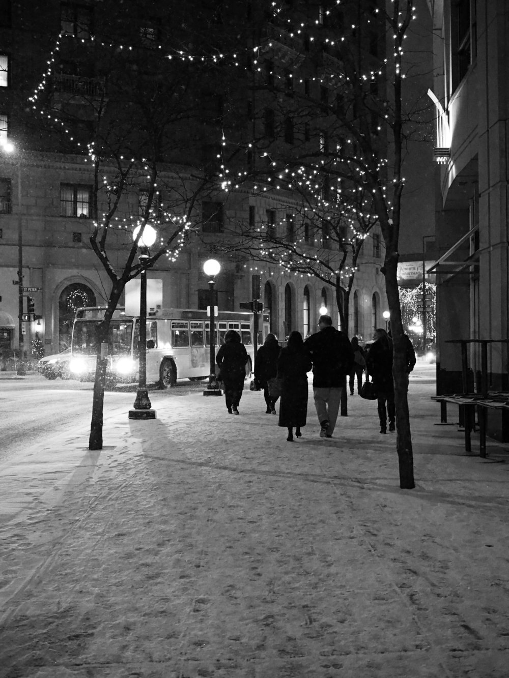 Downtown Saint Paul in December