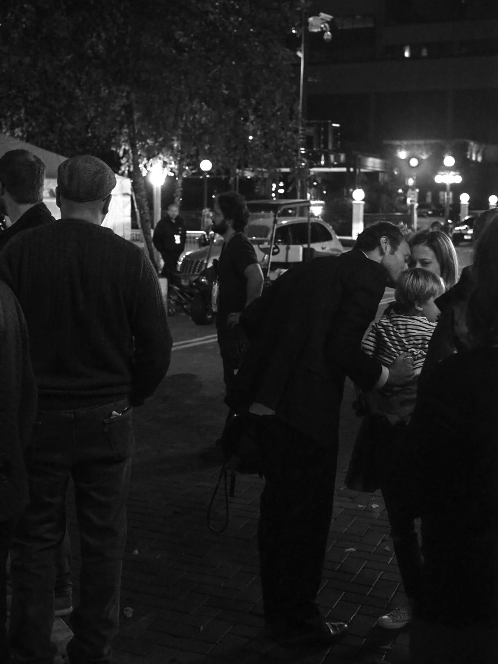 Post show kiss. Chris Thile. Landmark Center Plaza.