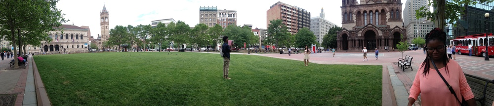 Panoramic of Copley Square
