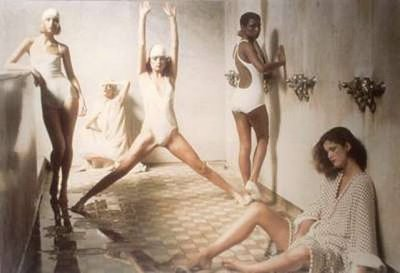 Deborah Turbeville, Models in Public Bathhouse in New York, Vogue (May 1975)