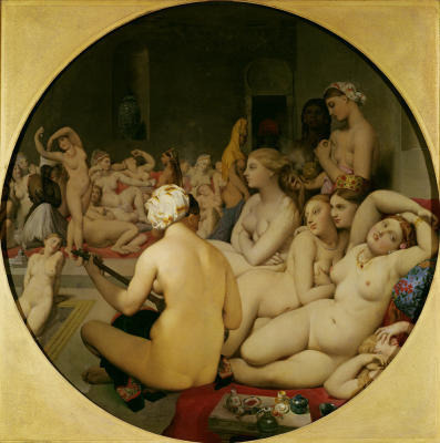 Women in a Turkish Bath House.