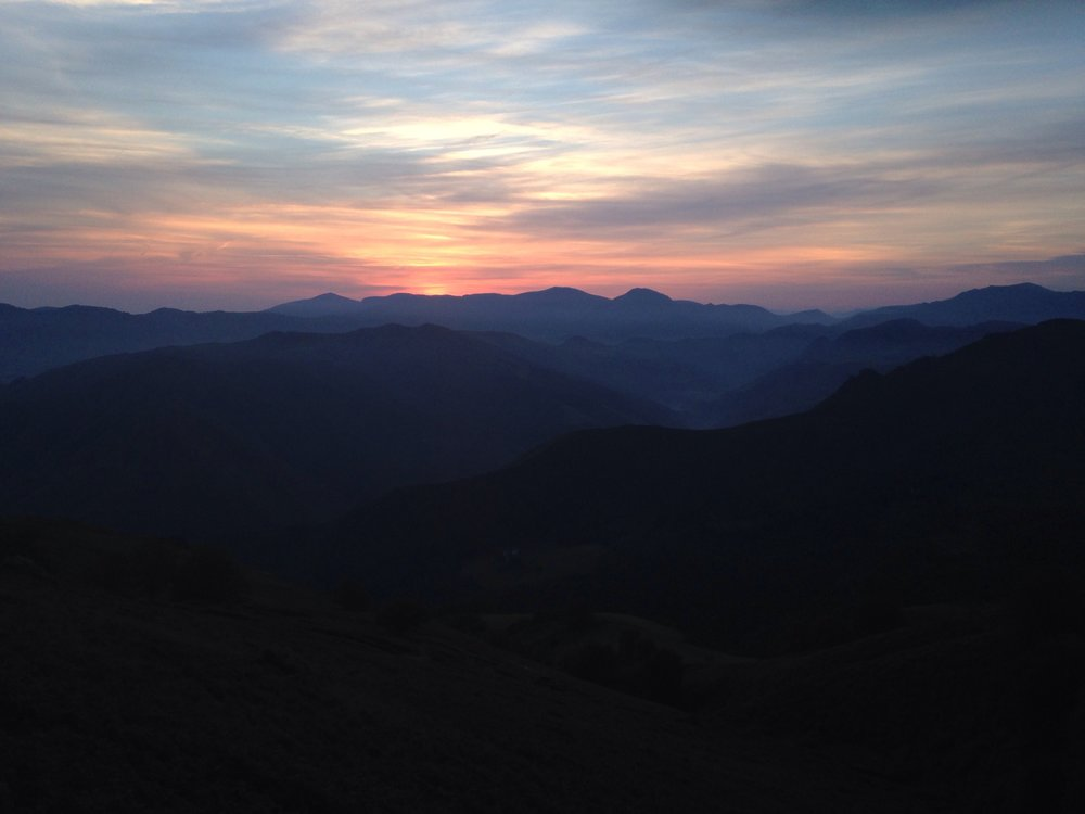 Sunrise leaving the refuge