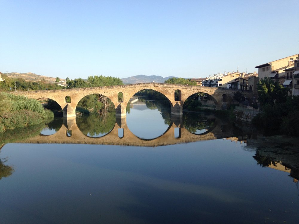 The queen's bridge, built in the 11th C to help pilgrims across the deep river