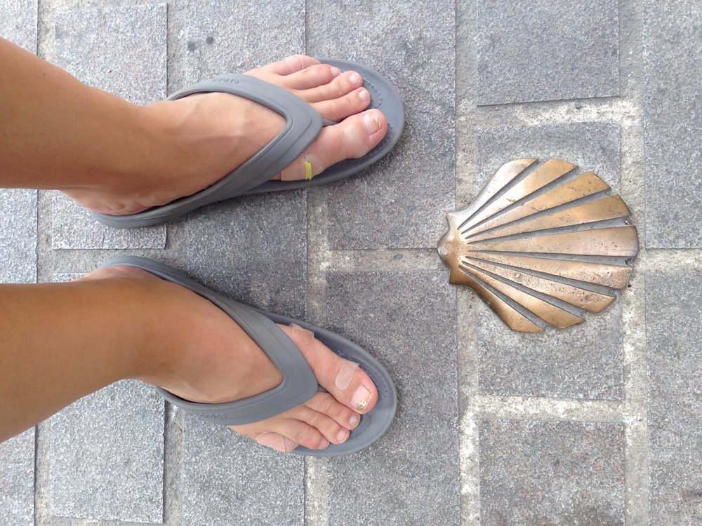 Camino markers and Camino feet
