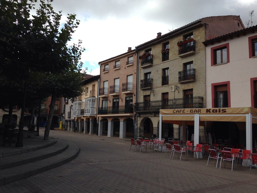 Belorado's main square