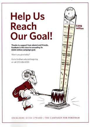 Fordham Alumni Magazine Fundraising Illustrationg I