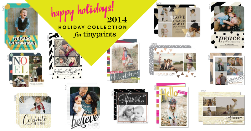 You can save 40% off your entire holiday card order on tinyprints if you use this special friends & family discount code:HOLCARDS40 (good through 12/31/14)