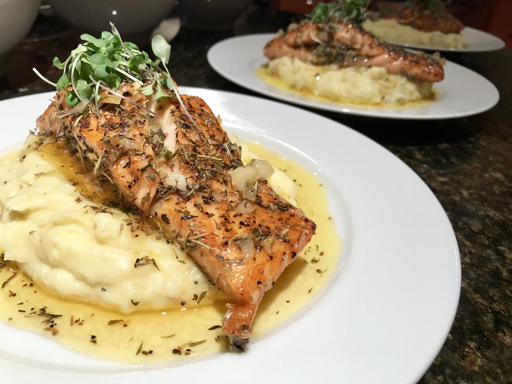Garlic Herbed Salmon