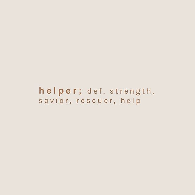 "God said, ""It is not good for the man to be alone. I will make a helper suitable for him."" - Genesis 2:18 // Did you know that the word ""helper"" used in this text is also translated to mean ""strength"", ""savior"" or ""rescuer"" and is used 16 other times in the Bible to describe God himself? It's never used to describe a inferior or weaker vessel. What this says to us about God's plan for women is that we were created with a mission and a purpose. We're created for collaboration, leadership, with abilities and gifts that are crucial to life. #wearewomankinde"