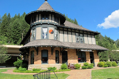 The Northern Pacific Railroad Depot - our Wallace Icon