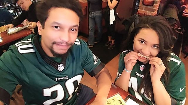Me and my sister @sunflower_hearts are still holding on to hope that @philadelphiaeagles will win #superbowl