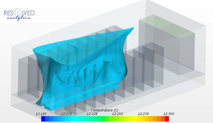 Isosurface of 12C Supply Air (Iso View)