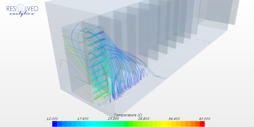 Streamlines Colored by Temperature