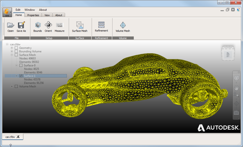 Autodesk Surface Wrap - External Flow Geometry Mesh Tool