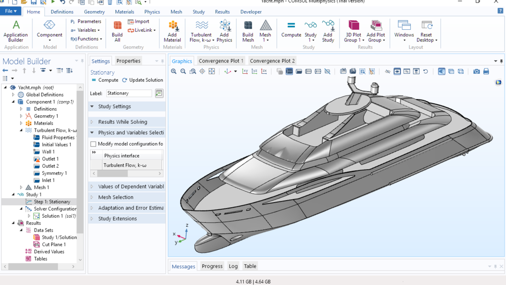 Figure 1: COMSOL Multiphysics 5.4 Graphical User Interface