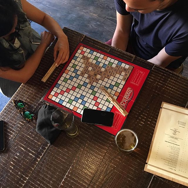 #tworoadsbrewery worker comp #peekskillbrewery simple sour #scrabble - #greatsaturdayafternoon