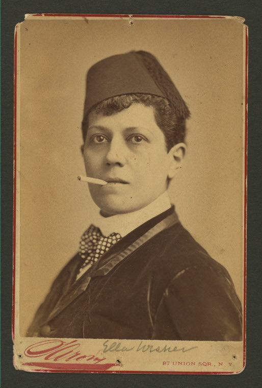 Publicity materials from popular 19th century drag king, Ella Wesner