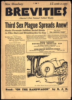 Third Sex Plague Strikes Anew!  Broadway Brevities, 1932