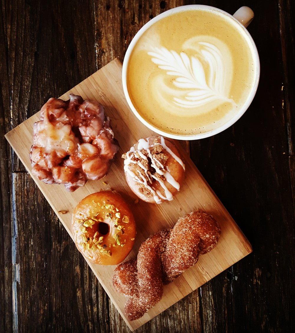 - We carry Cardamom's bakery throughout the week: including scones, croissants, muffins, brownies, vegan gluten free peanut butter bars, lemon bars and more.  Hello Sugar serves artisan doughnuts and is planning on opening a food truck this spring.  We carry their doughnuts Wednesday - Saturdays!