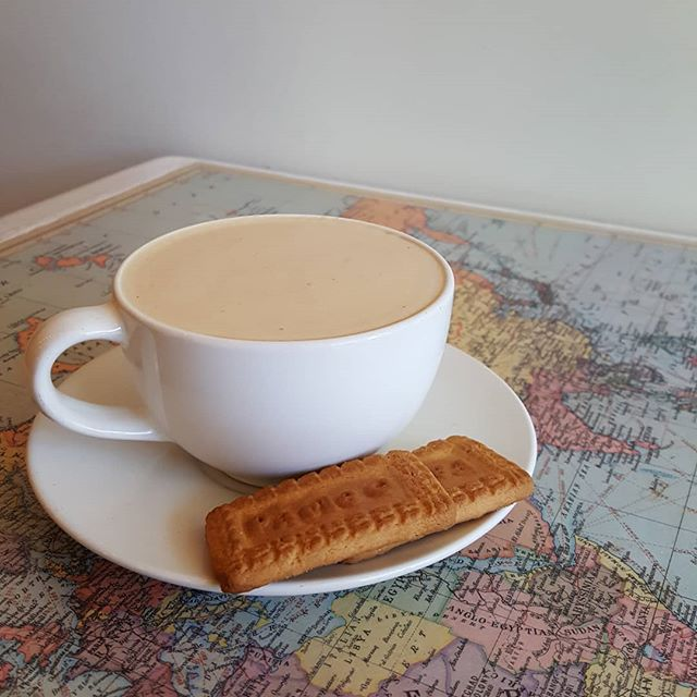 For the Fall season, we've decided to give you two Parle-G's with every Chai. Every weekday in India, we would take a break from the clinic and the staff and I would have a small cup of hot chai and Parle-G biscuits. While Well Grounded's chai is close to what I had in India, it's even closer when paired with Parle-G's.