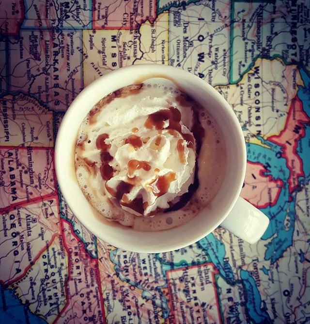 Caramel Apple Cider is back for the season! Our house made caramel with real Apple Cider and whipped cream!