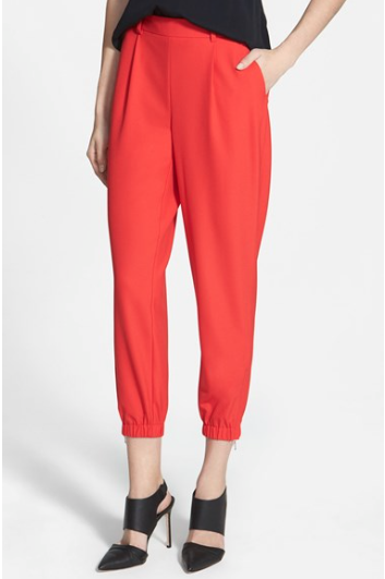 Trouve Elastic Cuff Pleated Pants /   Nordstrom