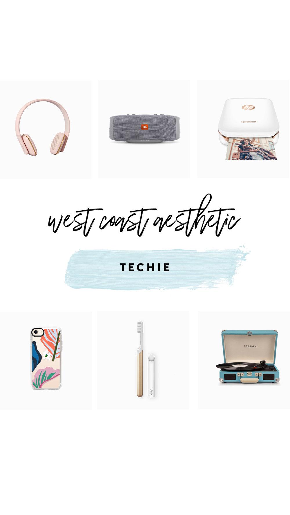 1.   Bluetooth Headphones   | 2.   Waterproof speaker     | 3.   Photo printer   | 4.   Phone case   | 5.   Electric toothbrush     | 6.   Record player