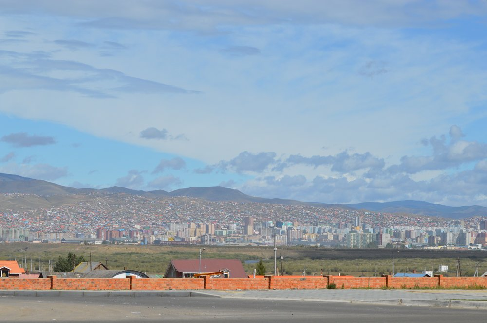 The city of Ulaanbaatar continues to grow and stretch up and across the hillside as more people move into the city from the country