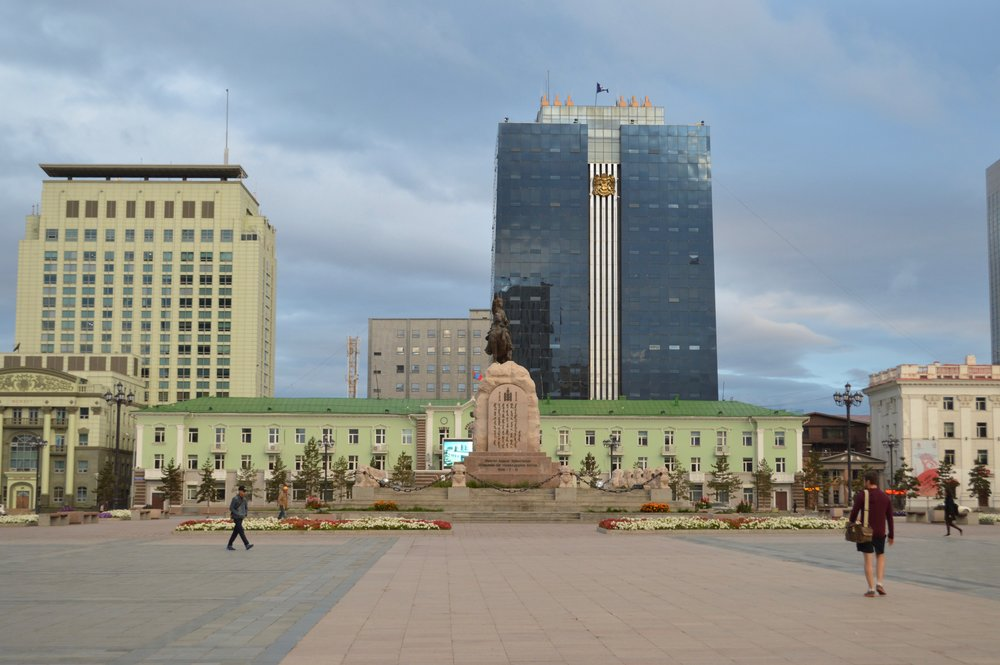 Building seen from Chinggis Square