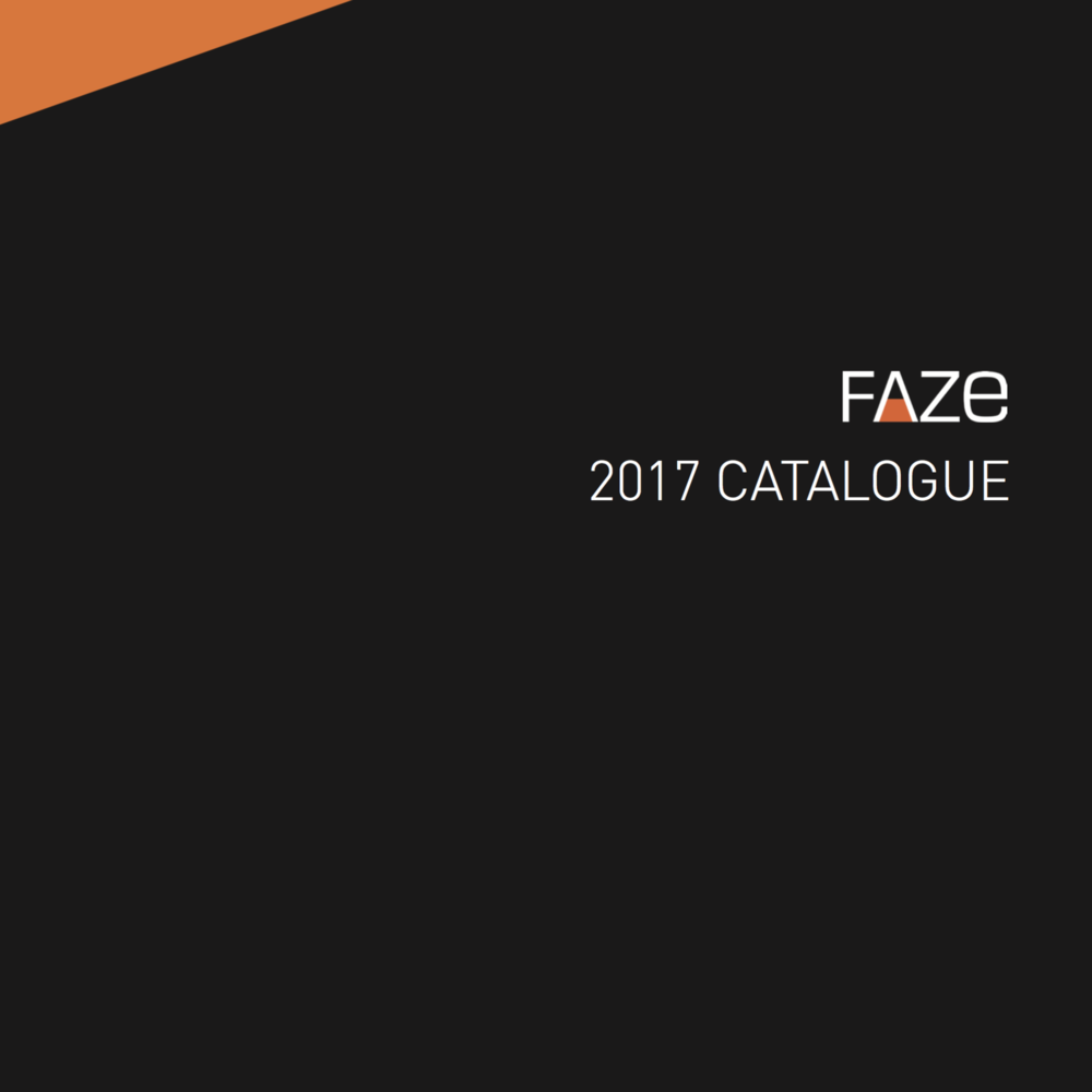 Faze 2017 Catalogue
