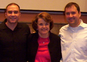 RWF's Jeff Cotter and Mike Thomas meeting with Senator Diane Feinstein in Washington, DC.