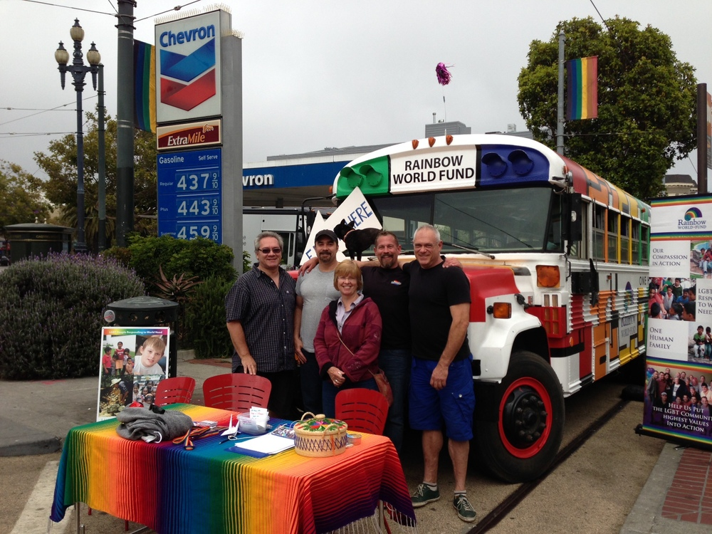 RWF volunteers doing outreach in the Castro neighborhood in San Francisco, CA.