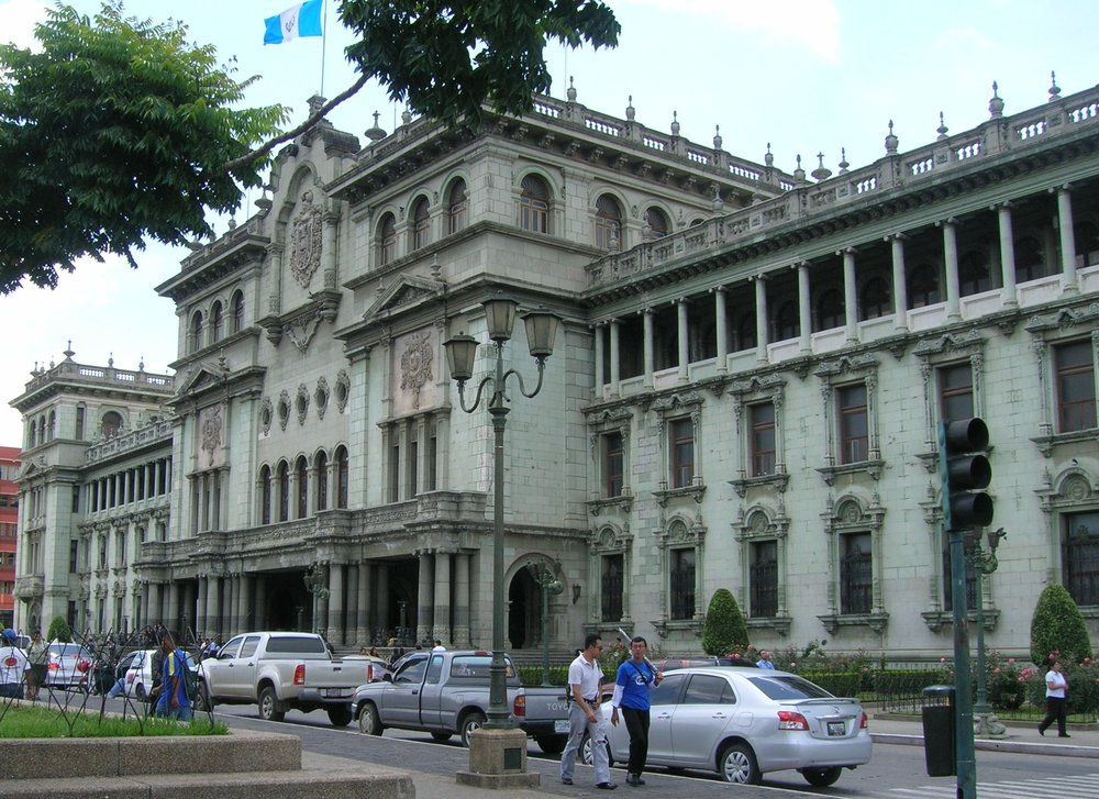 "Palacio Nacional de la Cultura (National  Palace  of Culture) in Guatemala City also known colloquially as ""Palacio Verde"" is the headquarters of the President of Guatemala."