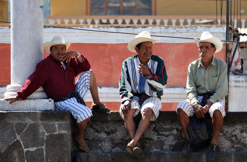 Tz'utujil men in Santiago Atitlán.