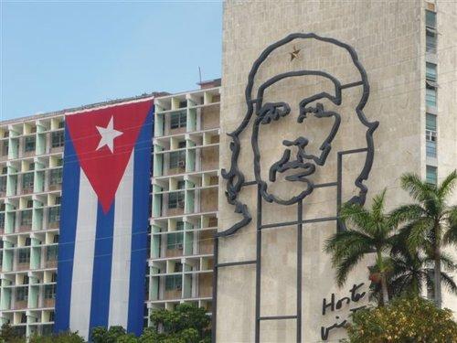 Che Guevara likeness at Revolution Square in Havana, Cuba