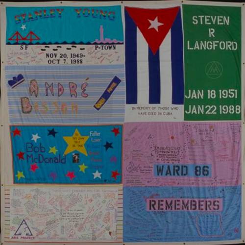 Sections of the NAMES Project AIDS Memorial Quilt will be traveling to Cuba for the first time. The sections will feature Cuba memorial panels.