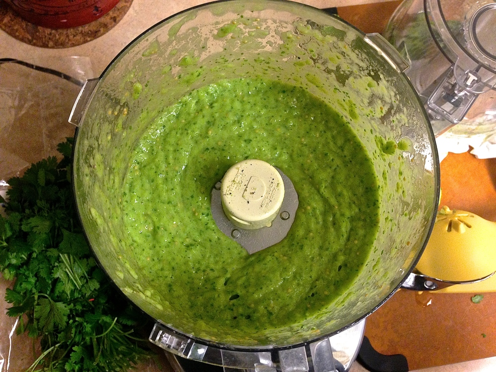 Tomatillo Salsa Verde by Kneading Home