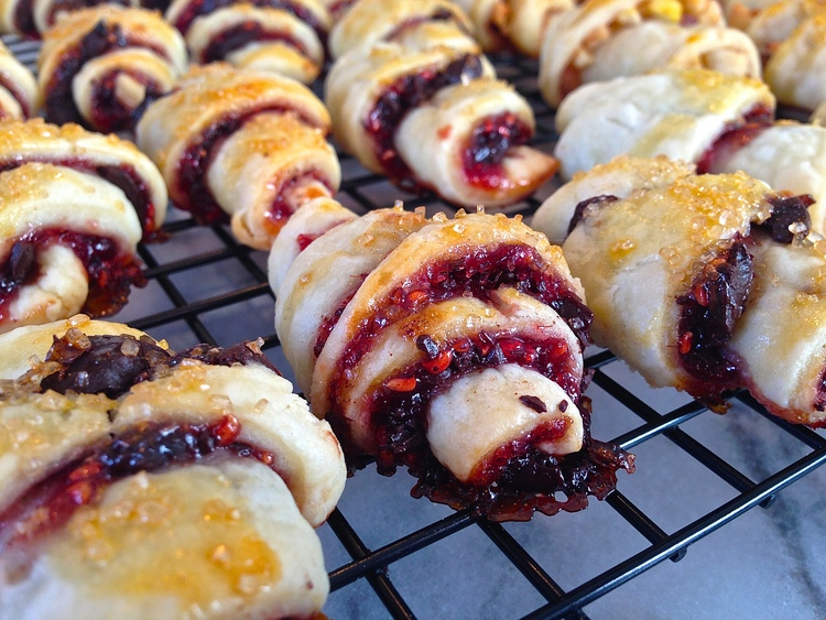 Homemade Rugelach 3 Ways: Chocolate Raspberry, Cinnamon Apple with ...