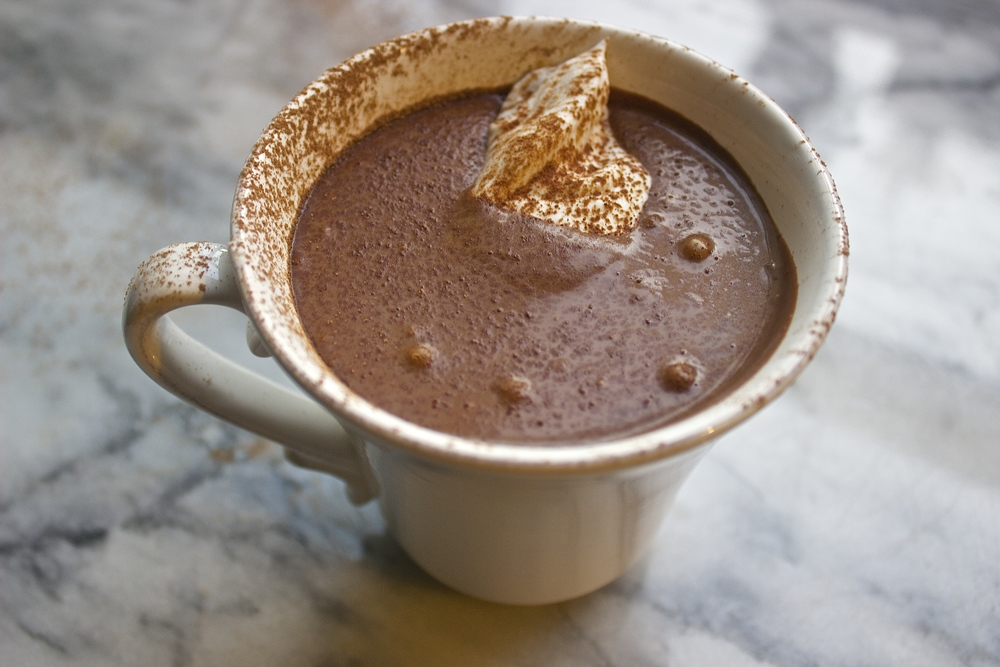Creamiest Vegan Hot Chocolate | Kneading Home