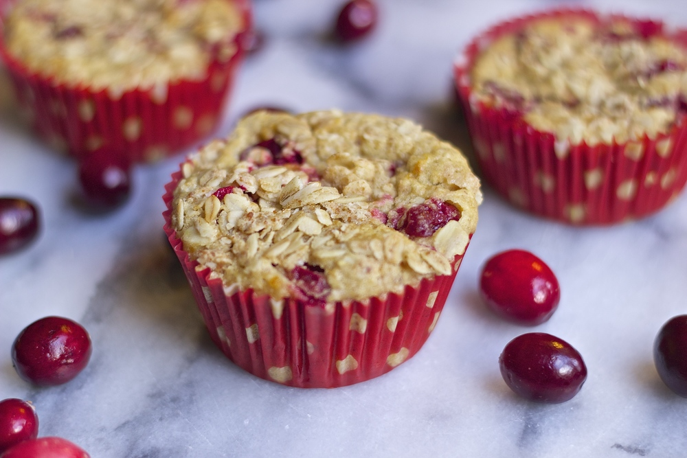 Orange Cranberry & Oat Breakfast Muffins {vegan} | Kneading Home