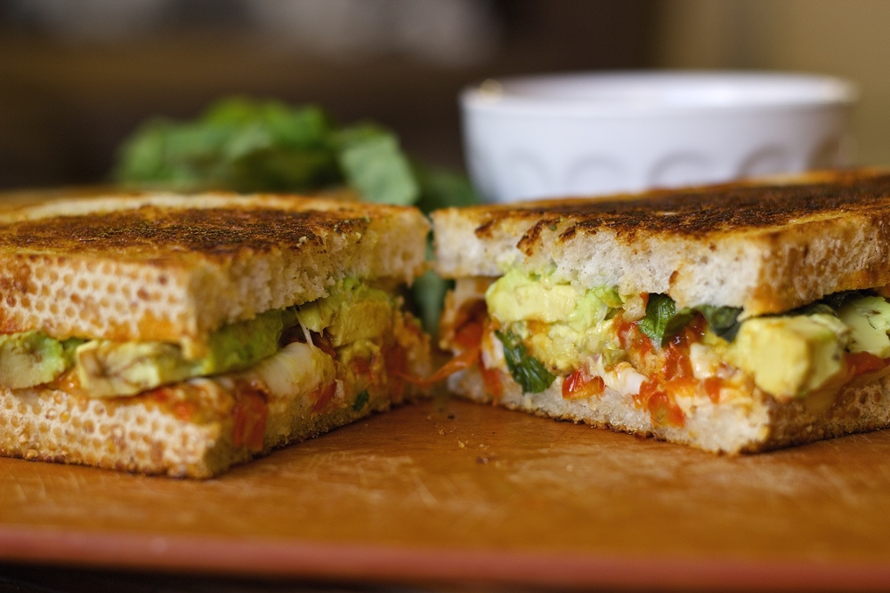Big Sur Grilled Cheeses with Slow-Roasted Cherry Tomato Jam | Kneading Home