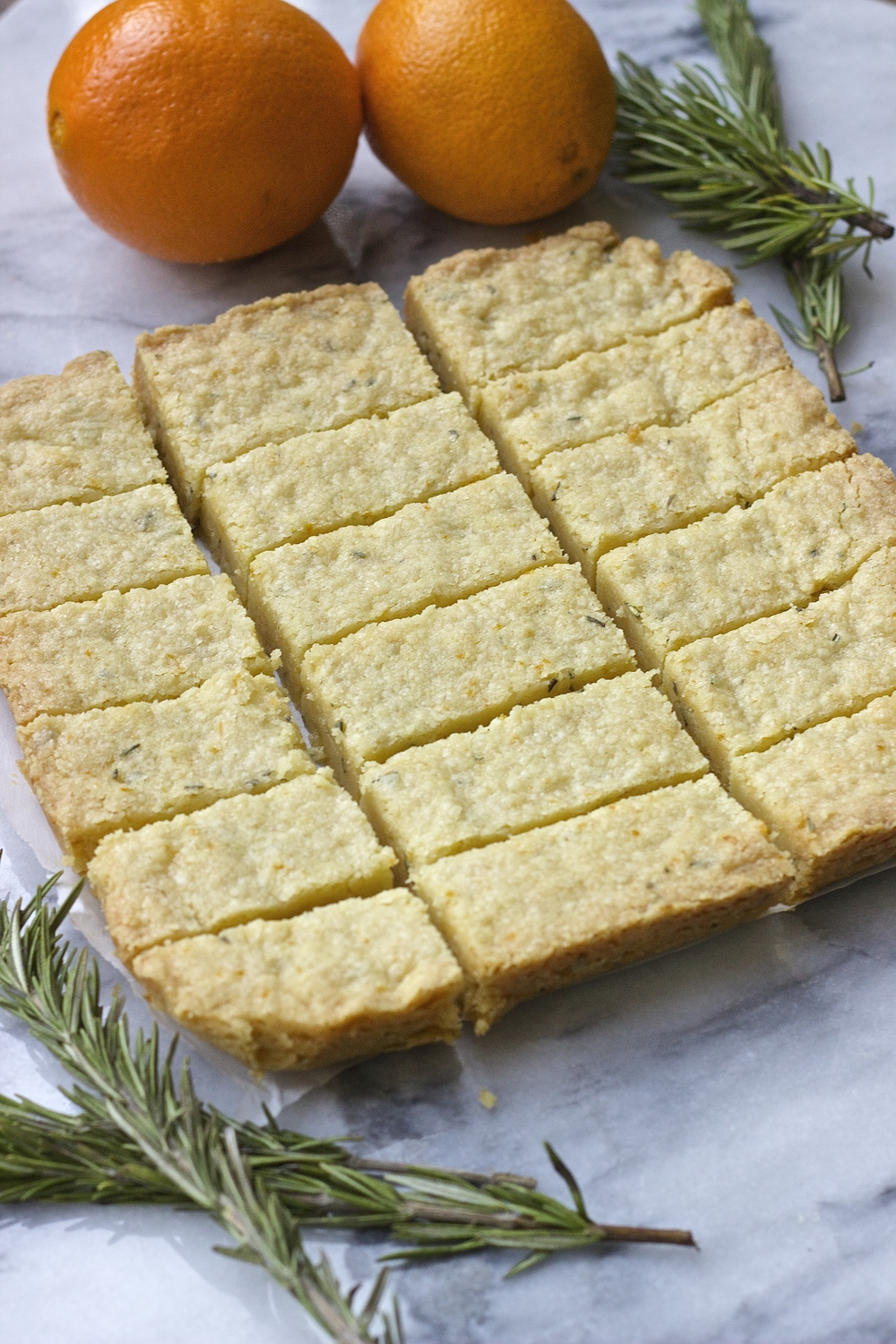 Orange Rosemary Shortbread | Kneading Home