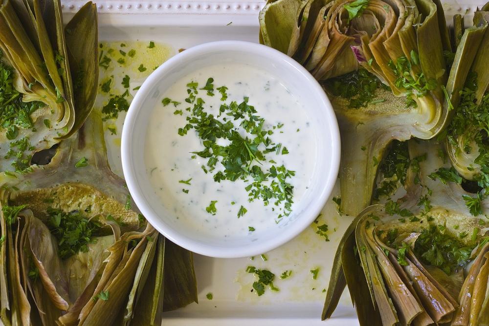 Fresh Artichokes with Garlicky Lemon Aioli | Kneading Home