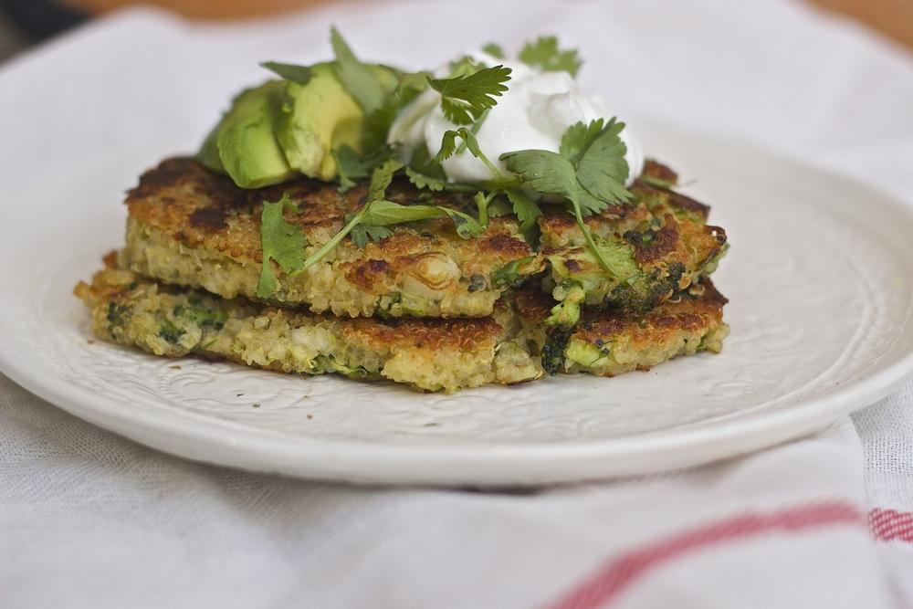 Broccoli, Quinoa & Feta Fritters | Kneading Home