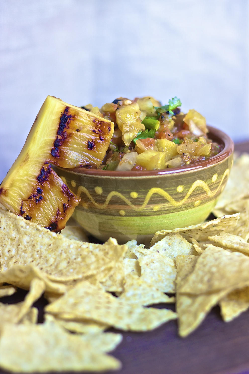 Grilled Pineapple Salsa | Kneading Home