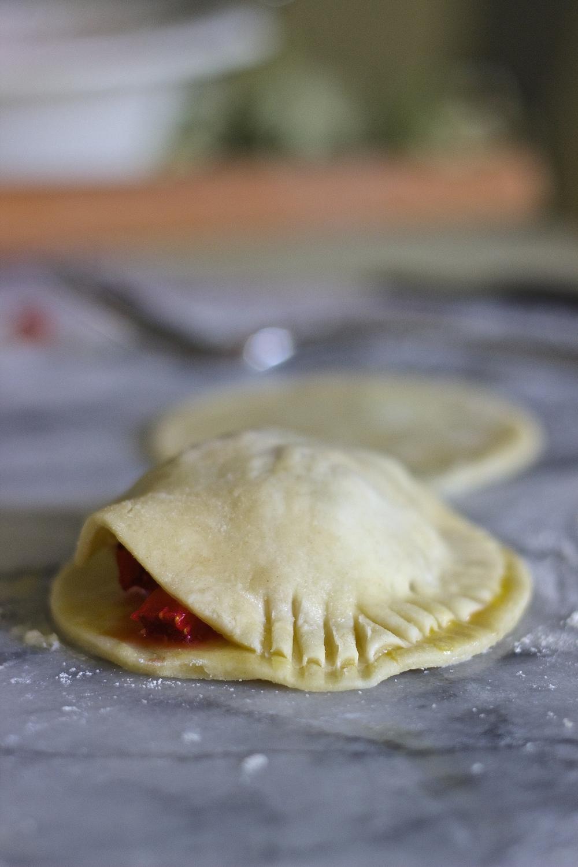 Strawberry, Basil + Mascarpone Hand Pies | Kneading Home
