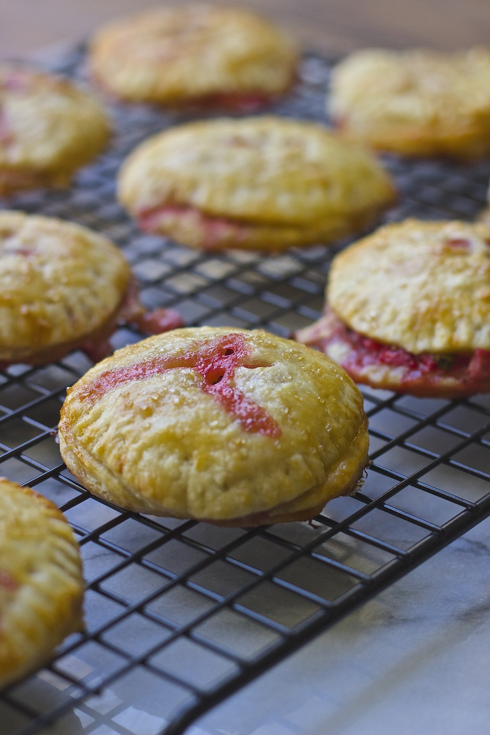 Strawberry, Basil + Mascarpone Hand Pies | Kneading Home