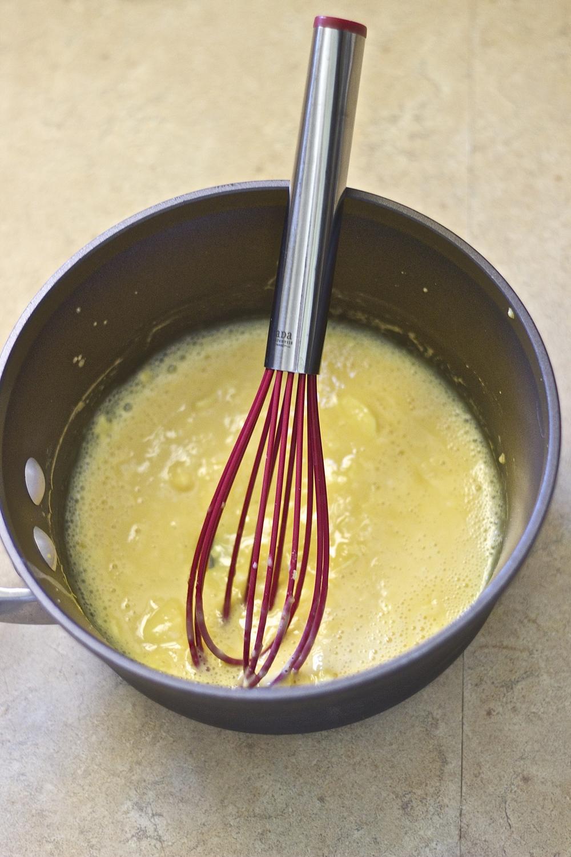 Creamiest Restaurant-Style Scrambled Egg Tartine with Sriracha Aioli ...